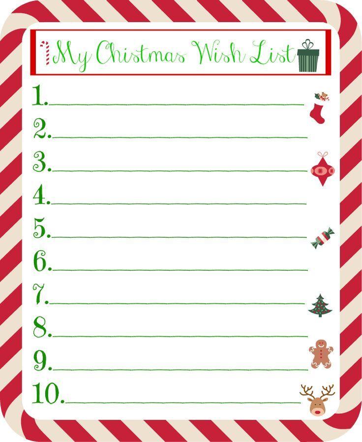 Description Christmas Wish List Template Kids Christmas List Kids Christmas List Printable