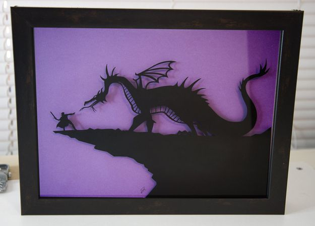 Prince vs. Dragon Hand Cut Paper Craft | 15 Enchanting Fairy Tale Crafts You Can Own