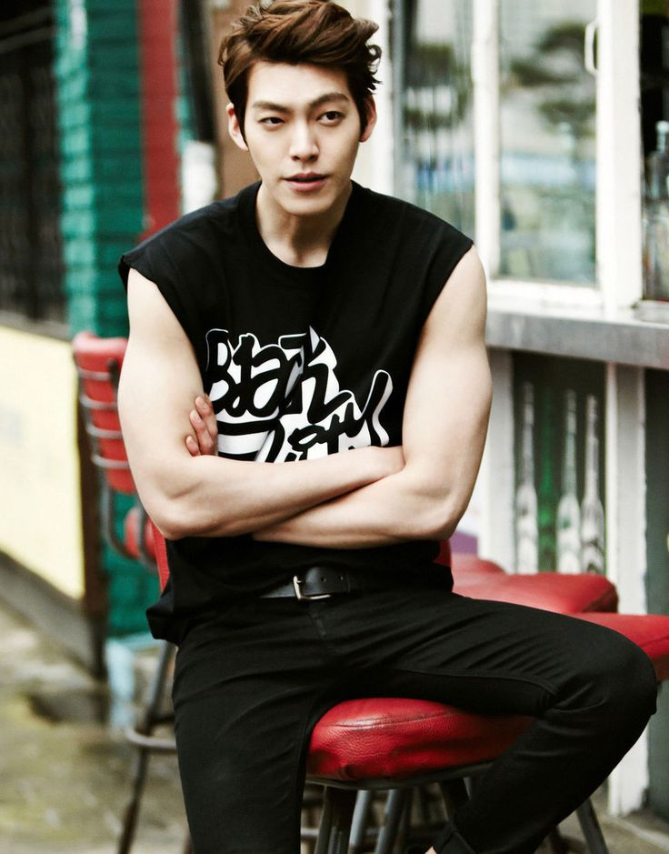 Kim Woo-bin in Muscle Tank Silk Print Poster