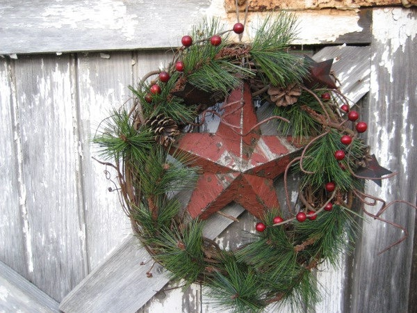 Best Early American Christmas Images On Pinterest Simple - Colonial christmas decorating ideas
