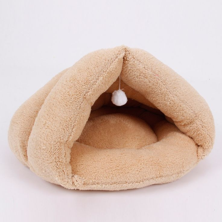 Pet Bed Winter Warm Bed Soft Cat Mats Cat Toy Ball Hanging Cat House Kitten Sleeping Bag Puppy Chihuahua Yorkshire Small Dog Bed