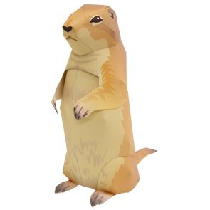 Prairie Dog - Other Animals - Animals - Paper Craft - Canon CREATIVE PARK from http://cp.c-ij.com/