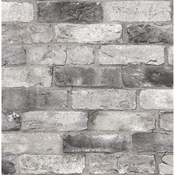 Grey London Brick Peel And Stick Wallpaper London Brick Brick Wallpaper Nuwallpaper
