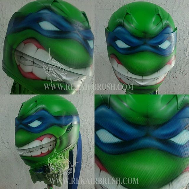 Rekairbrush Custom Airbrushed Motorcycle Helmet 37