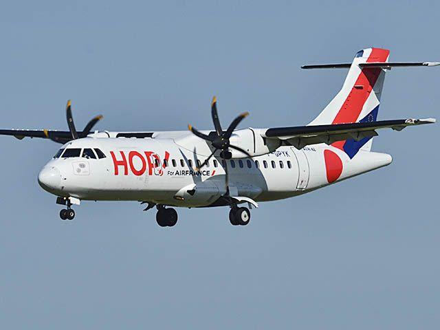 HOP! Air France maintient Ajaccio au départ d'Aurillac et Castres