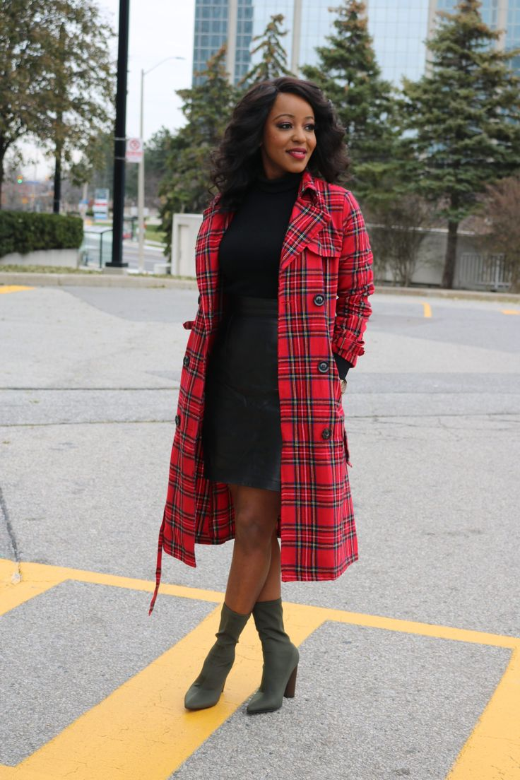 Styling plaid coat for fall/winter