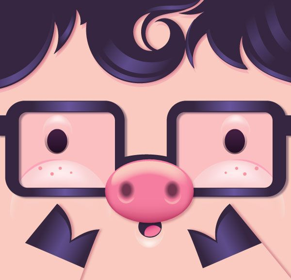 How to Make a Cute Pig Face Icon With Simple Gradient Mesh in Adobe Illustrator - Tuts+ Design & Illustration Tutorial