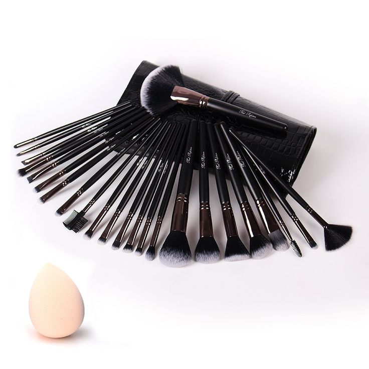 Makeup Brushes, 24 Pieces Professional Makeup Brush Set with Case Travel Makeup Brush Fan , Foundation Brush Powder Brush Face Brush Blush Brush Eyeshadow Brushes Eyeliner Brush Best Makeup Brushes. Vegan friendly. Come with a makeup sponge. This makeup brush set contains every brush you need for a flawless and professional look when applying a wide range of cosmetics including foundation, eyeshadow, eyeliner, blusher, concealer and natural powders. The synthetic brush hair is super soft…