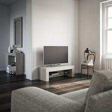 mobilifiver Evo Mobile TV Stand, Wood, Concrete, 112 x 40 x 36 cm