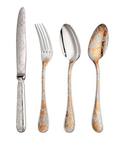 Garden of Eden cutlery by Marcel Wanders for Christofle