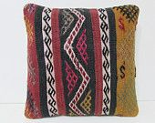 knitted kilim pillow outdoor cushion tribal cushion case kelim rug indie pillow case country pillow outdoor pillow case crochet pillow 26332