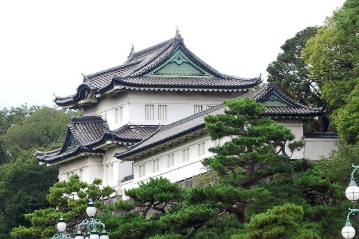 Kaiserpalast Kokyo im Japan Reiseführer http://www.abenteurer.net/1994-japan-reisefuehrer/