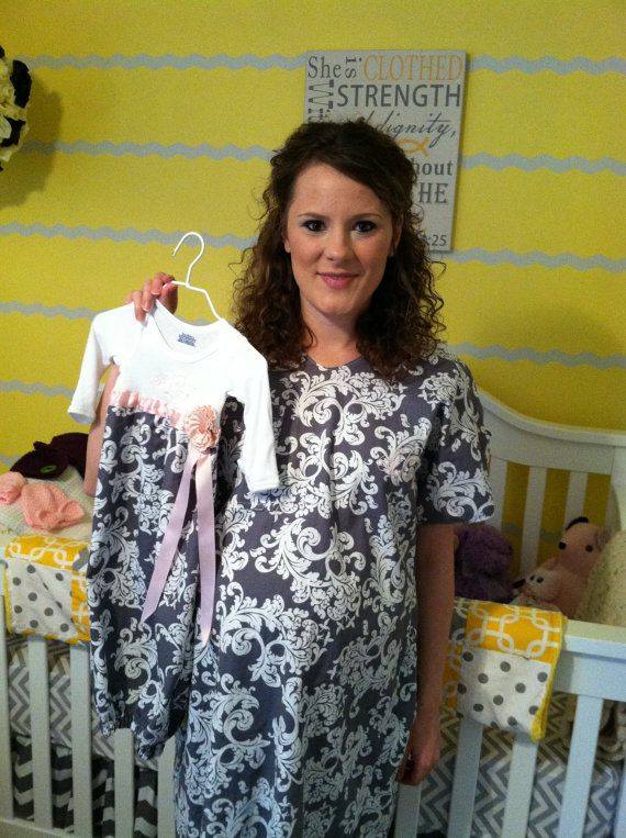 Matching hospital gowns - make baby one to match the diy gown I will make.