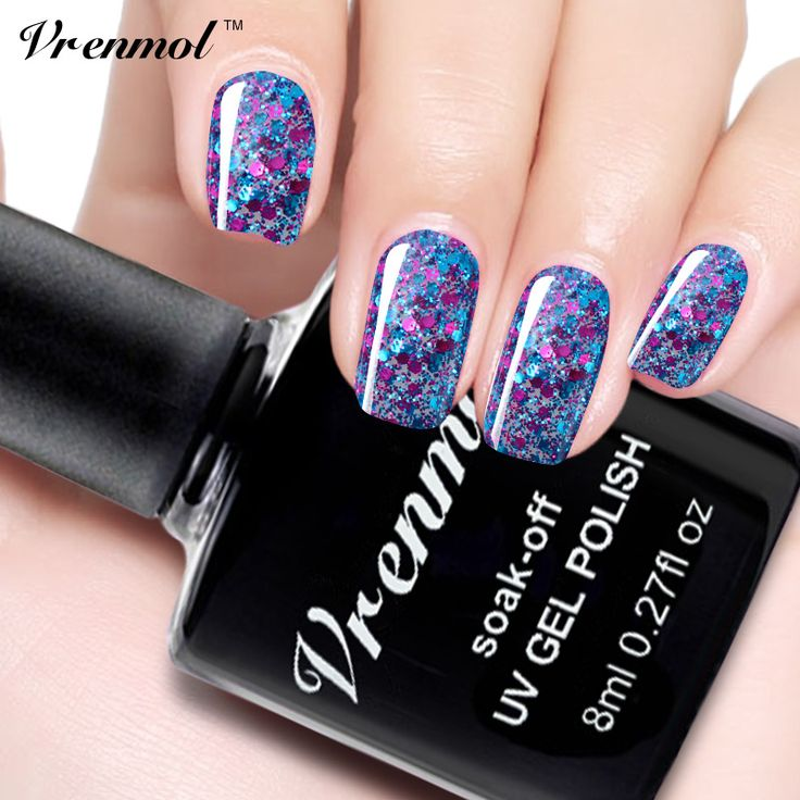 Vrenmol Semi Permanen Diamond Glitter Gel Varnishes Soak Off Led UV Gel Nail Polish Colorful Shimmer Sequins Gel Lacquer #>=#>=#>=#>=#> Click on the pin to check out discount price, color, size, shipping, etc. Save and like it!