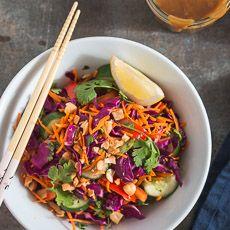 Thai+Salad+with+Peanut+Dressing