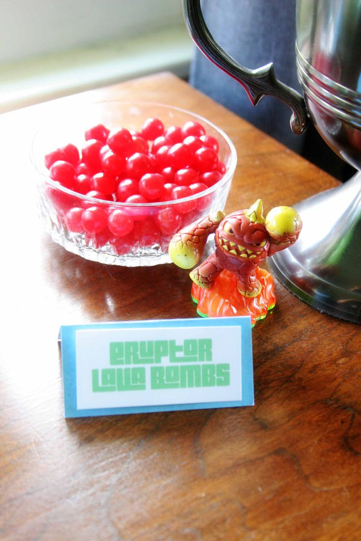 Eruptor Lava Bombs, Easy Skylanders Birthday Party, Candy Bar, Party Favor, by @CraftivityD