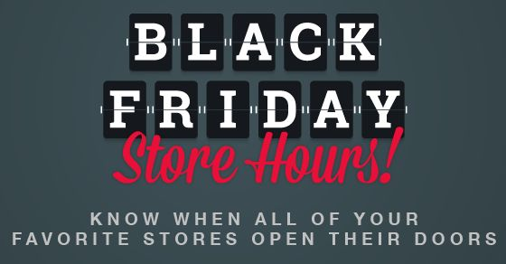 Store Hours Roundup Thanksgiving and Black Friday