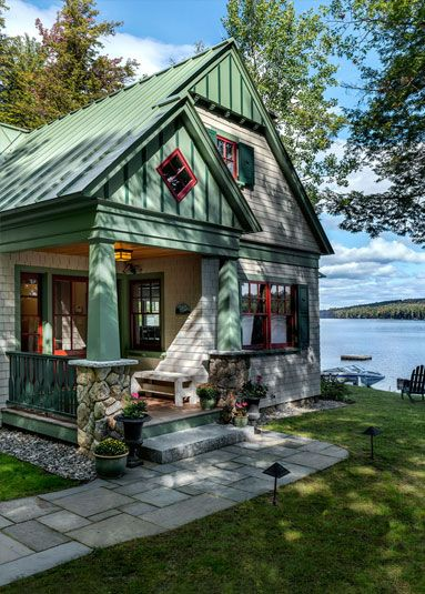 Best 25 lakeside living ideas on pinterest lake dock for Maine cottage house plans
