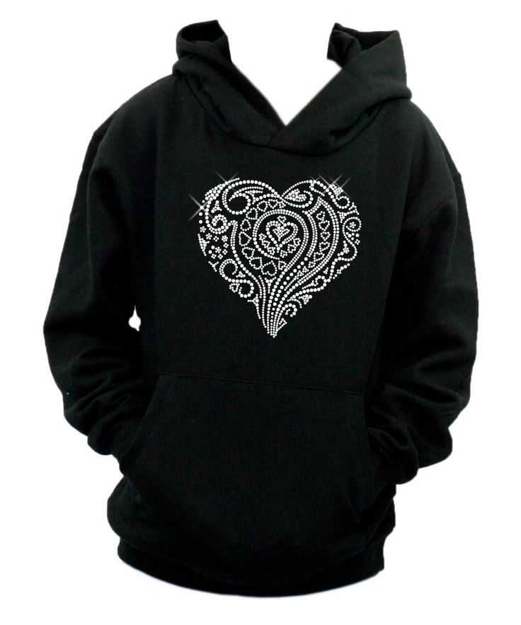 Black Personalised Rhinestone Hoodie - Design Your Own Rhinestone Hoodie - Personalised Diamante Hoodie - Crystal Embellished Hoodies sQCsX
