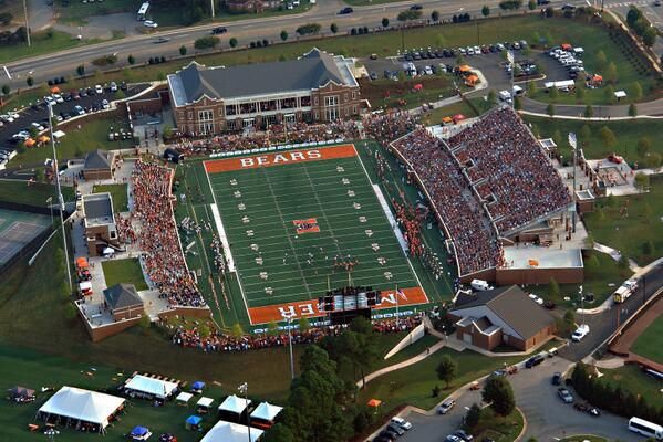 A view from above of the sold out crowd of 12,172 this past Saturday against Reinhardt at Mercer University Stadium
