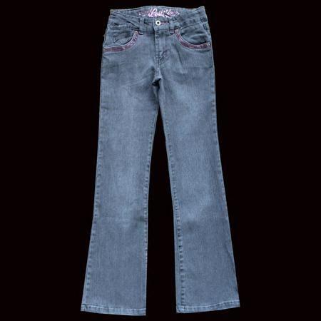 Почта Распродажа джинсы эластичного денима микро Раман большая девочка штаны в весенние и осенние брюки 130-155  — 288.07р.
