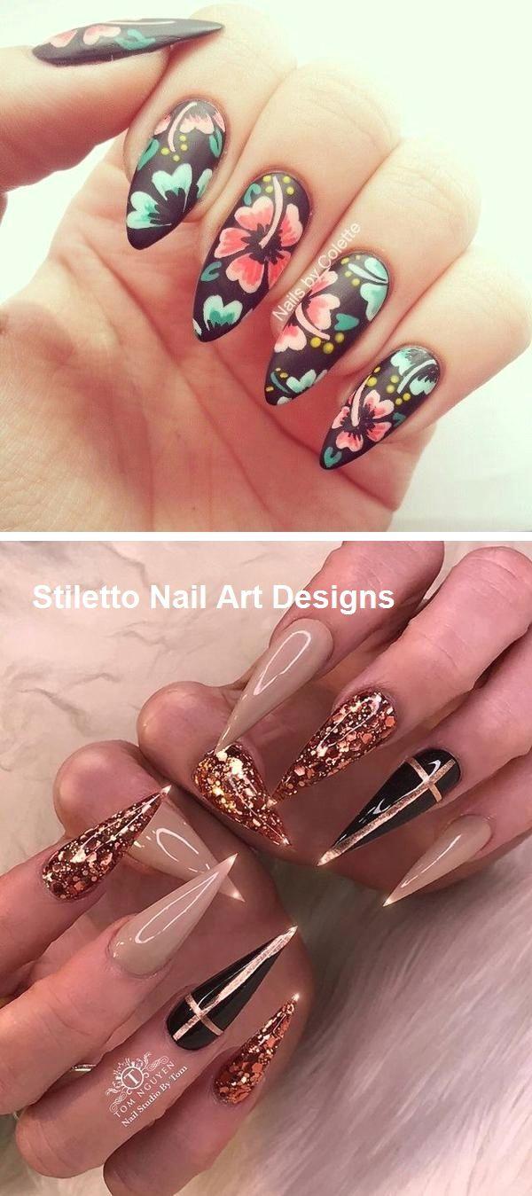30 Great Stiletto Nail Art Design Ideas 1 With Images Stiletto