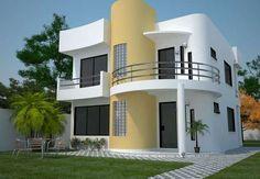 casas pequenas de dos pisos  mexicanas  | Plano de casa moderna de 161 m2 y de 2 plantas