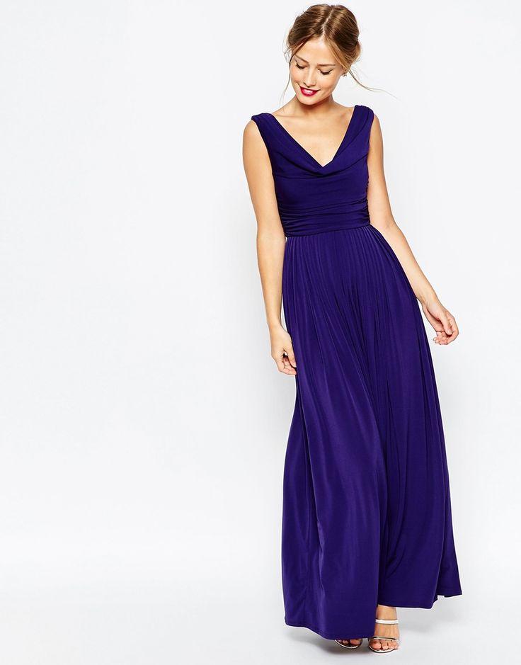 Image 1 Of ASOS WEDDING Cowl Neck Maxi Dress