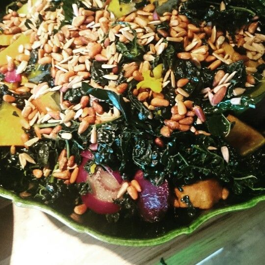 Marinated kale and paprika squash #salad #vegan #glutenfree #organic