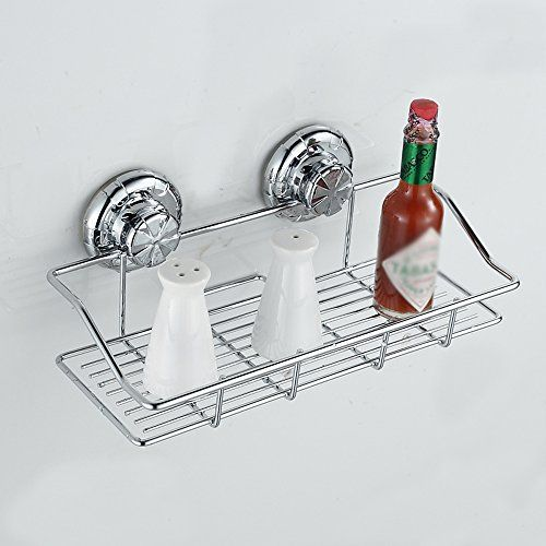 Bathroom Organization: VIVISKY Stainless Steel Shower Caddy with Rotate