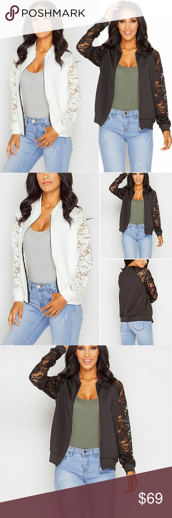 Cute Bomber Lace Jacket Womens Biker Celebrity Zip Up Coat Lace Long Sleeve Bomber Jacket Ladies Outwear   Shipping:5-12 business days   Comes in Small-2XL, please let me know size you want          ebus1088 Accessories