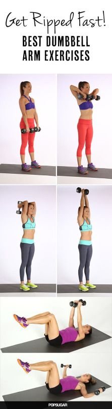 Grab some weights and work your arms. shoulders. and upper back!