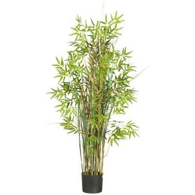 Nearly Natural 5 ft. Bamboo Grass Silk Plant-6569 at The Home Depot