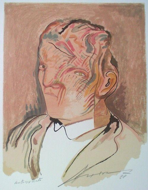 Jose Luis Cuevas (1934) – Autoretrato, 1988