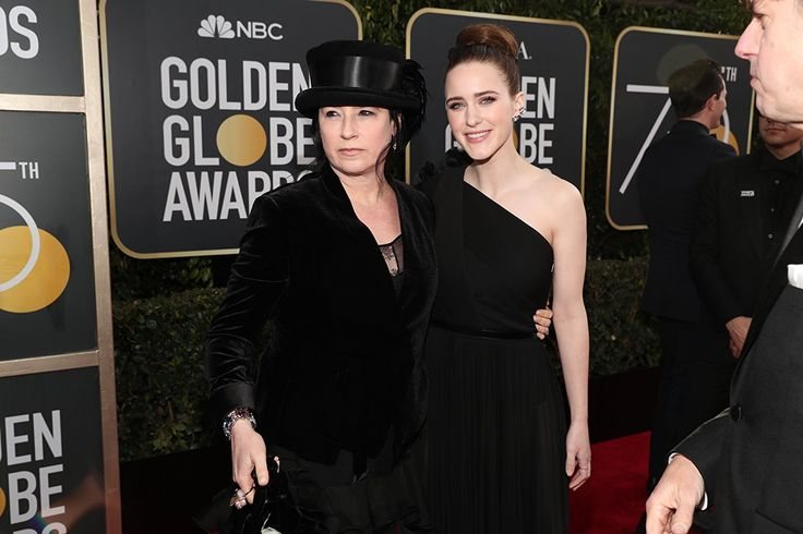 Amy Sherman-Palladino and Rachel Brosnahan at the 75th Golden Globe Awards (2018)