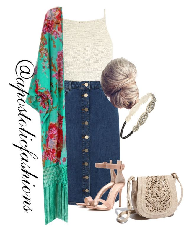 """""""Apostolic Fashions #1784"""" by apostolicfashions on Polyvore featuring SHE MADE ME, Oasis, Gianvito Rossi, Forever 21 and Big Buddha"""