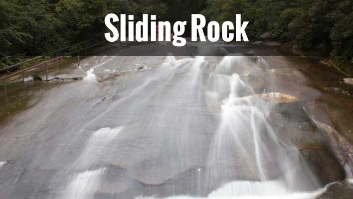 Sliding Rock NC - Get details, tips photos and video.  A really great family fun place in the Blue Ridge