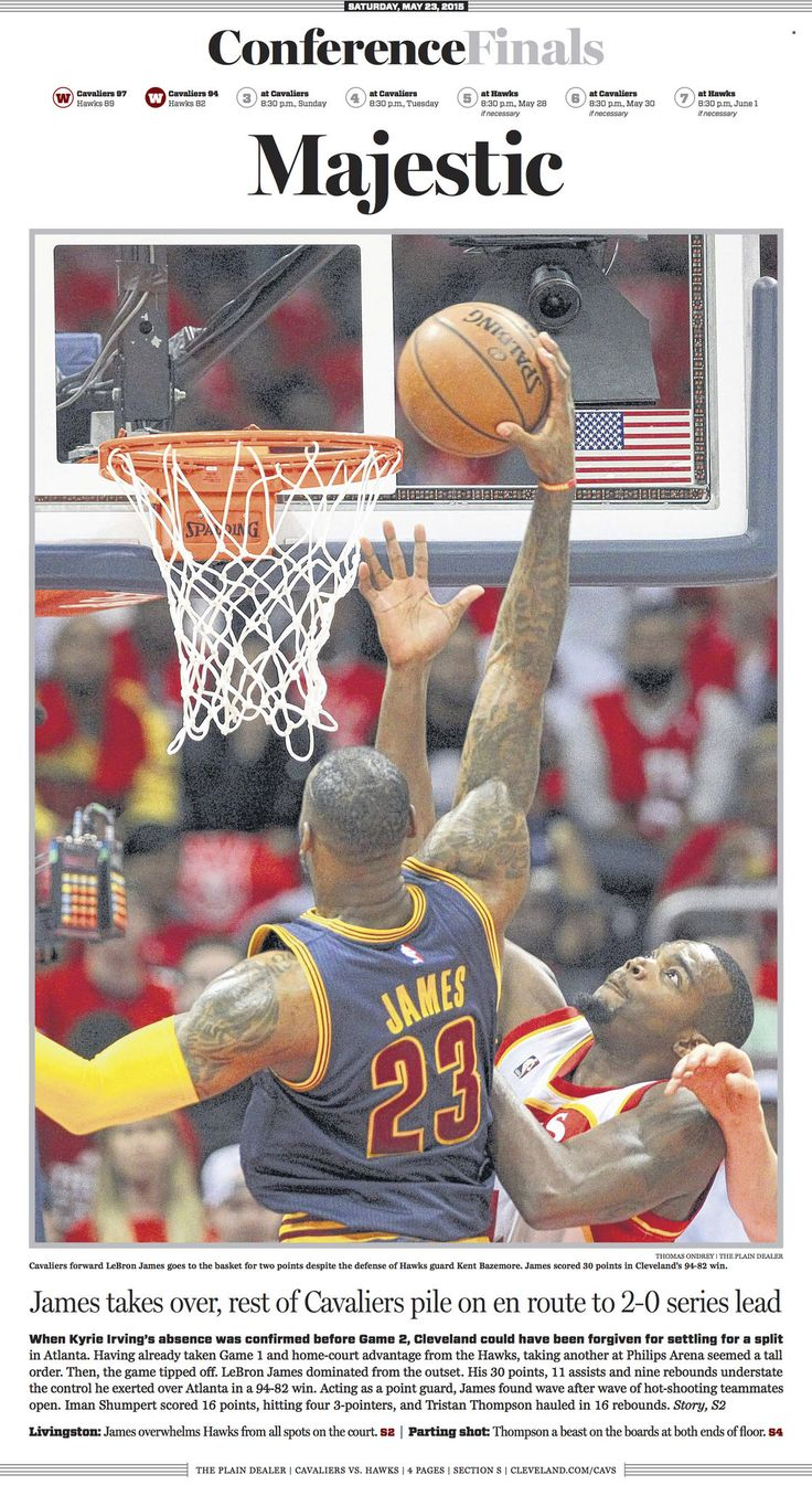 See contrasting Sports covers of The Plain Dealer, Atlanta Journal ... Cleveland Cavaliers  #ClevelandCavaliers
