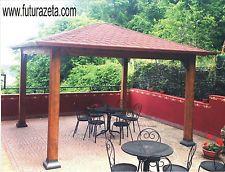 GAZEBO IN LEGNO casetta arredo esterno,giardino, pergolato,copertura 4,00X4,00mt