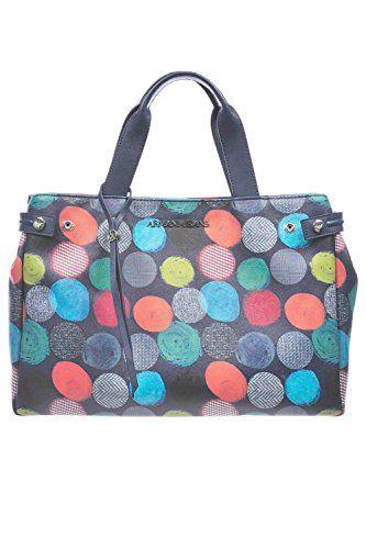 Armani Jeans women's handbag shopping bag purse multicolor blu