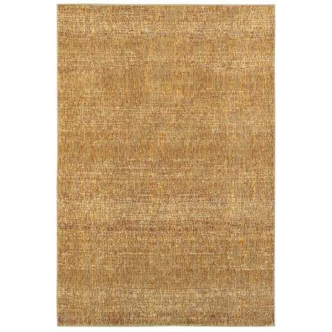 Style Haven Tonal Textures Gold Yellow Area Rug X Size Nylon Solid