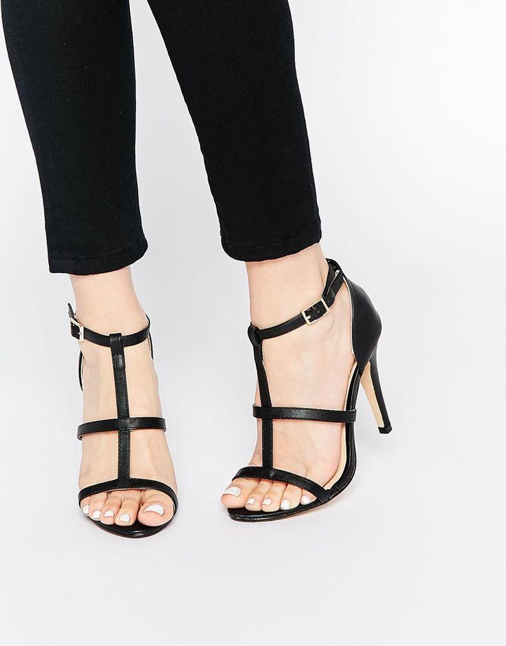 Image 1 ofDaisy Street Cynthia Black Heeled Sandals