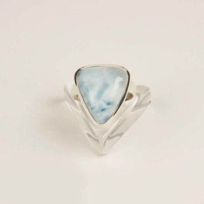 "Larimar, also called ""Stefilia's Stone"", is a rare blue variety of the silicate mineral pectolite found only in the Dominican Republic, in the Caribbean. The stone larimar tied both silver and gold, is quite rare, expensive, and mined in a single mine in the world."