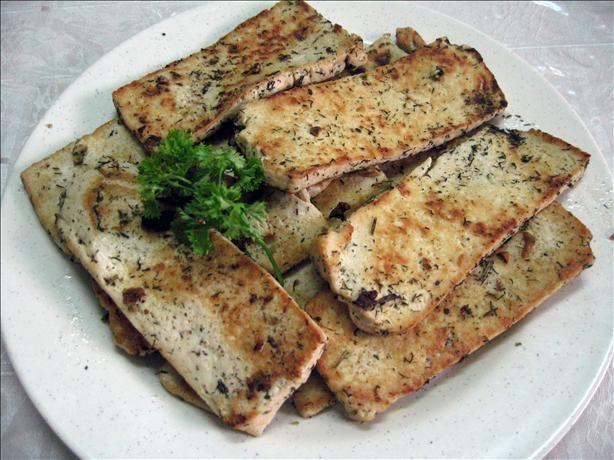 Tofu Turkey - this is actually very tasty! Vegan. Gluten free.