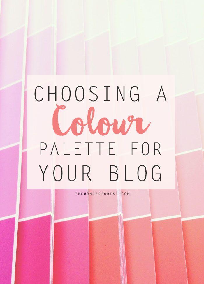 Choosing a Colour Palette for Your Blog | Wonder Forest: Design Your Life.