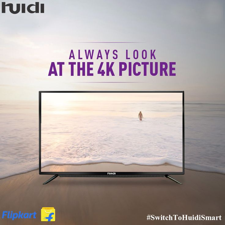 Get crystal clear visuals and sound on the 4k display of