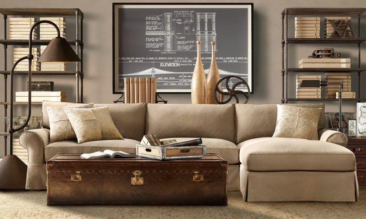 living room with light colored furniture