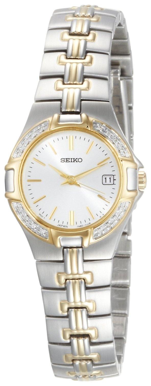 Seiko Women's SXDA42 Diamond Two-Tone Watch, (watches, seiko, dress watches, seiko watch, womens watches)