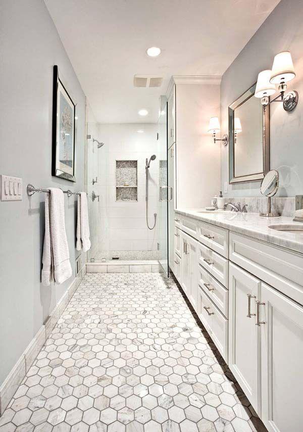 21 Amazing Narrow Bathroom Ideas Classic Bathroom Narrow Bathroom Designs Narrow Bathroom