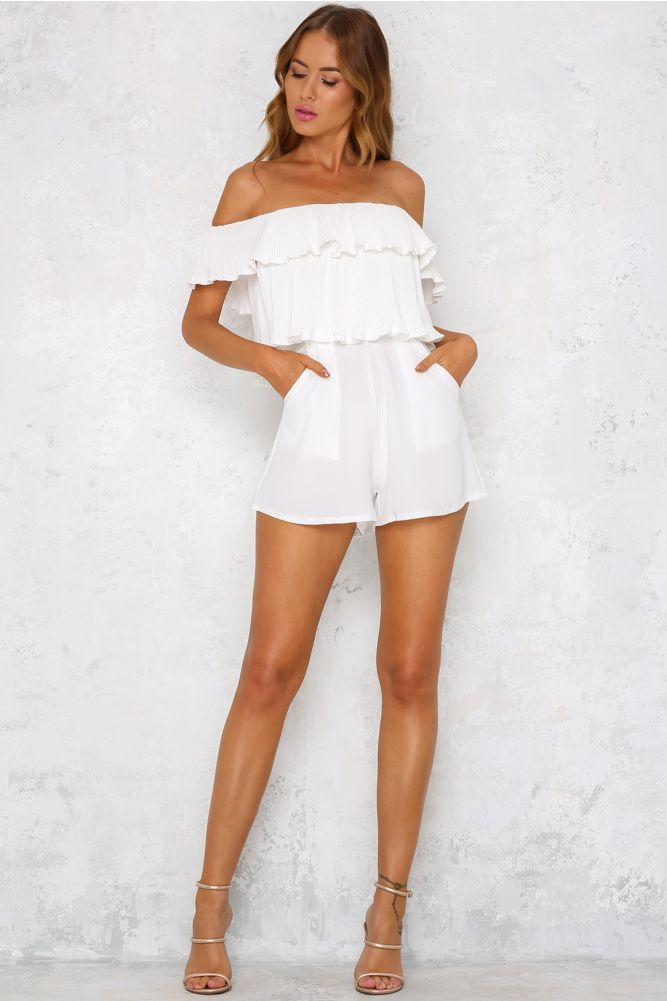 Famous Playsuit White